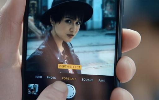 iPhone reclamespot over portretfunctie