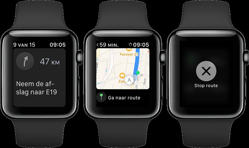 Apple Watch navigeren: kaartje bekijken en route stoppen