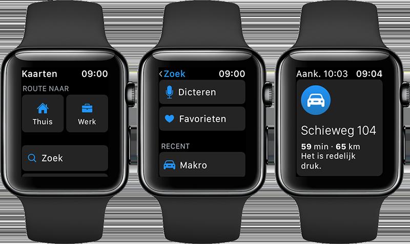 Navigeren Apple Watch: bestemming invoeren