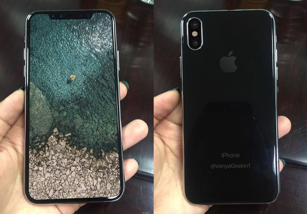 iPhone 8 dummy met scherm en camera.