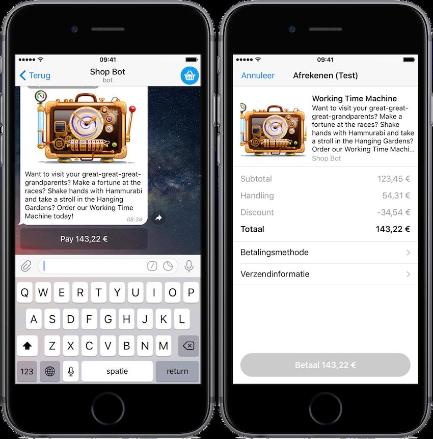 In Telegram kan je nu ook betalen voor producten en diensten