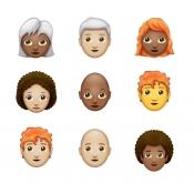 Grijs, roodharig, kaal of een afro? Er is een passende emoji voor jou op komst