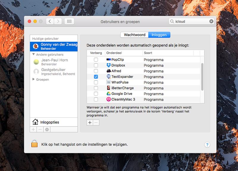 Mac sneller opstarten: opstartprogramma's