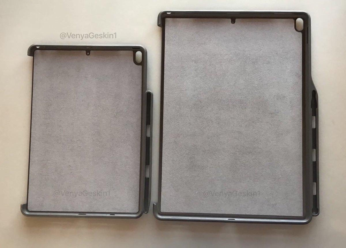 Binnenkant van mogelijke 10,5-inch en 12,9-inch iPad Pro.