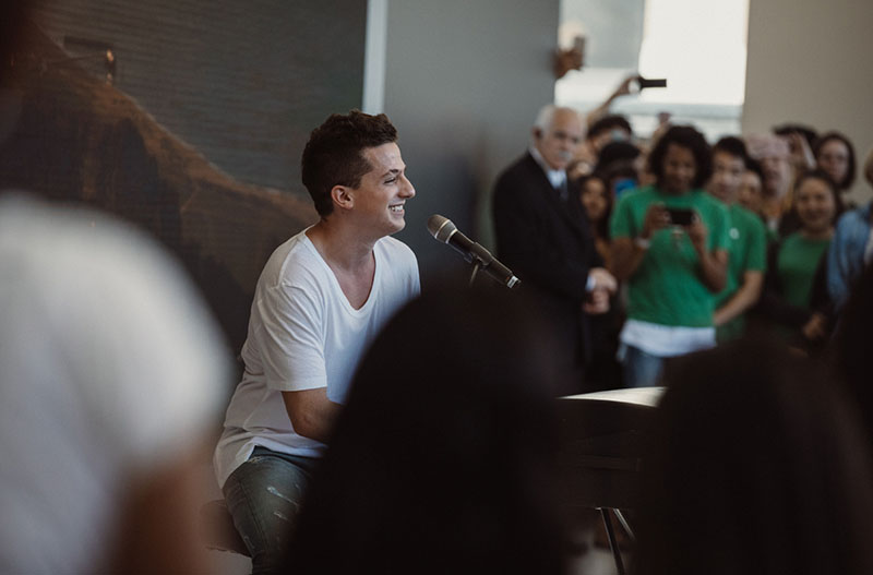 Today at Apple Union Square met Charlie Puth