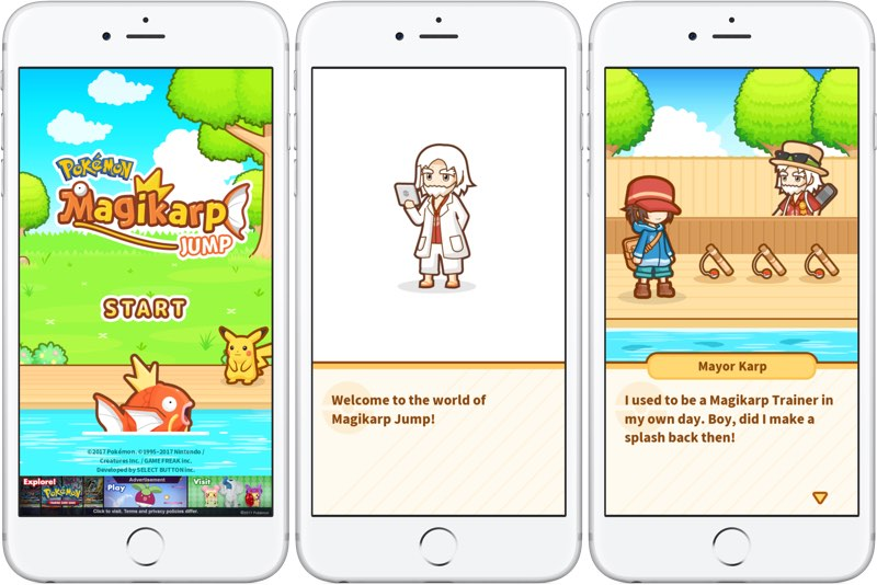 Pokémon Magikarp Jump screens