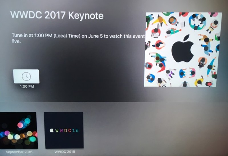 Apple TV keynote WWDC-livestream