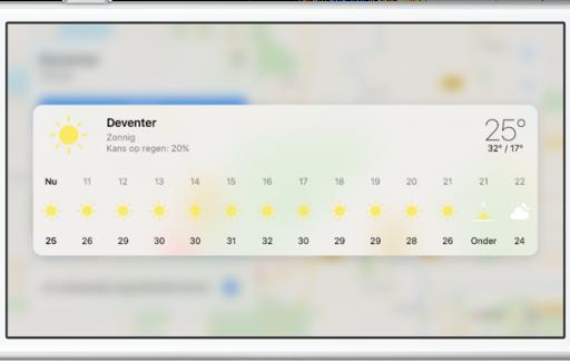 Apple Kaarten weerinfo opvragen