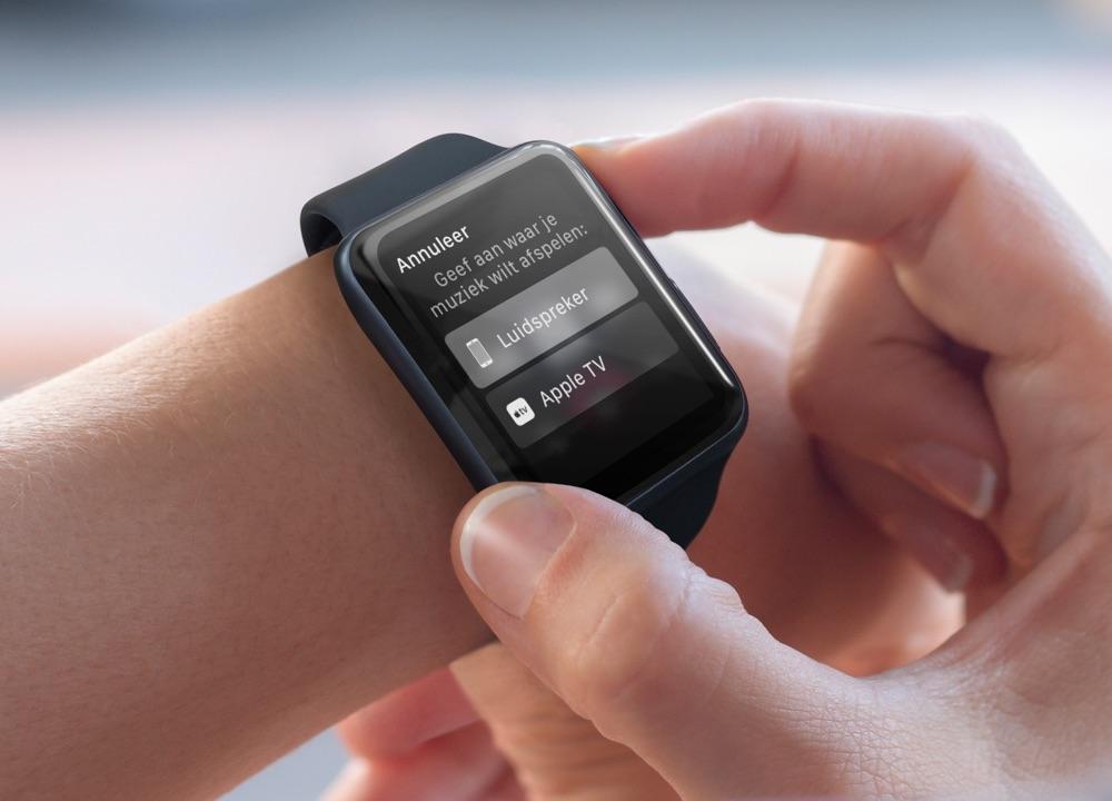 AirPlay op een Apple Watch.