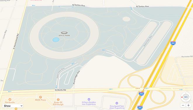 Apple Park 3D terrein