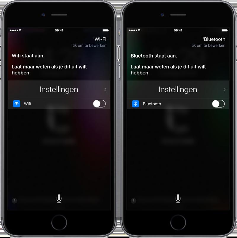 WI-FI en Bluetooth Siri-bug
