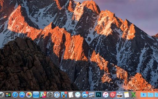 Mac Dock actieve apps