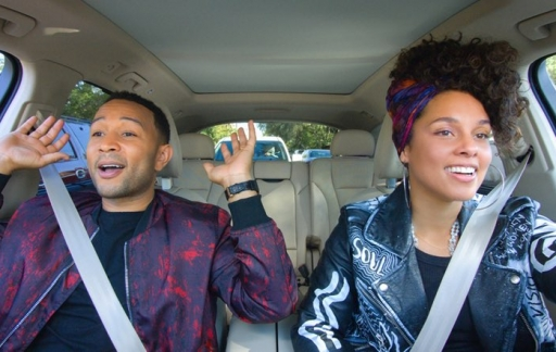 Carpool Karaoke met John Legend en Alicia Keys