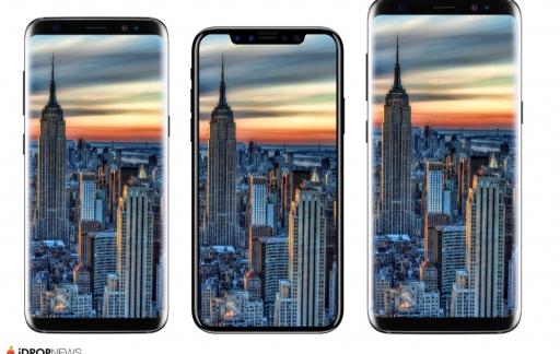 iPhone 8 renders vergeleken met Samsung Galaxy S8.