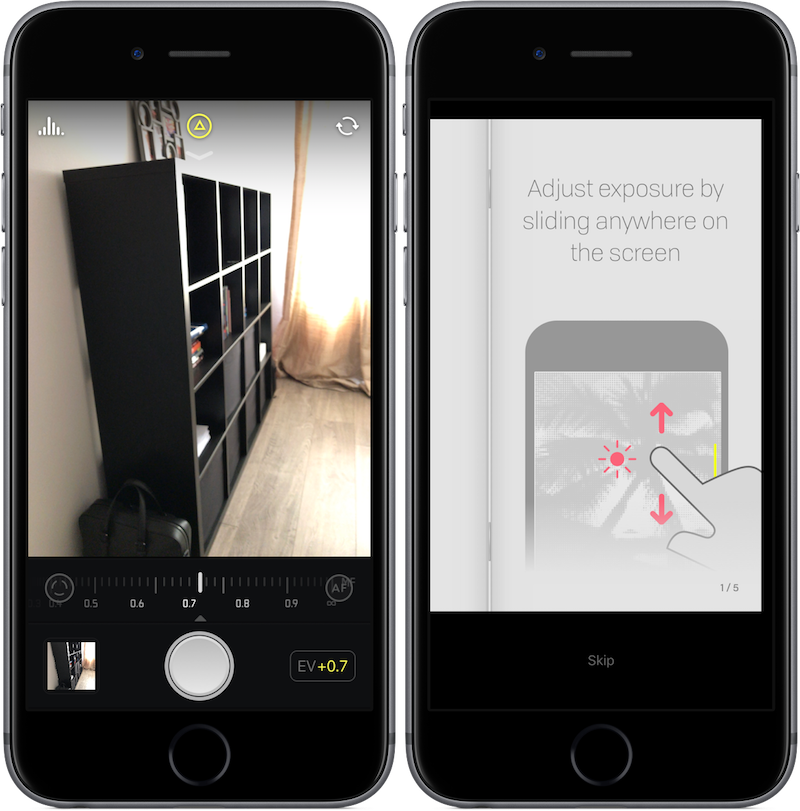 Halide camera-app voor iPhone