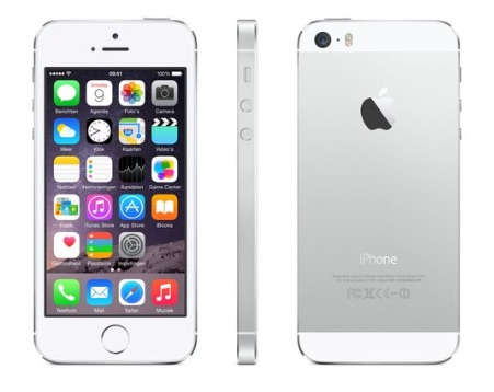 iPhone 5s zilver.