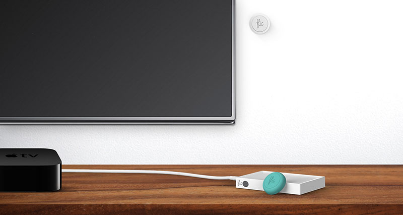 Flic knop met Apple TV