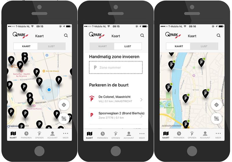 Qpark parkeren-app