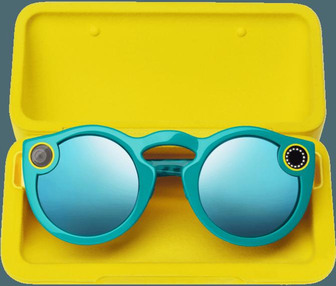 Spectacles worden geleverd in een gele koker