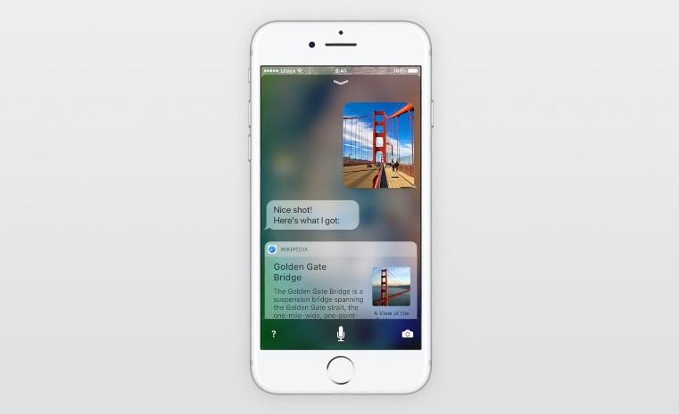 iOS 11 concept met Siri die een foto herkent.