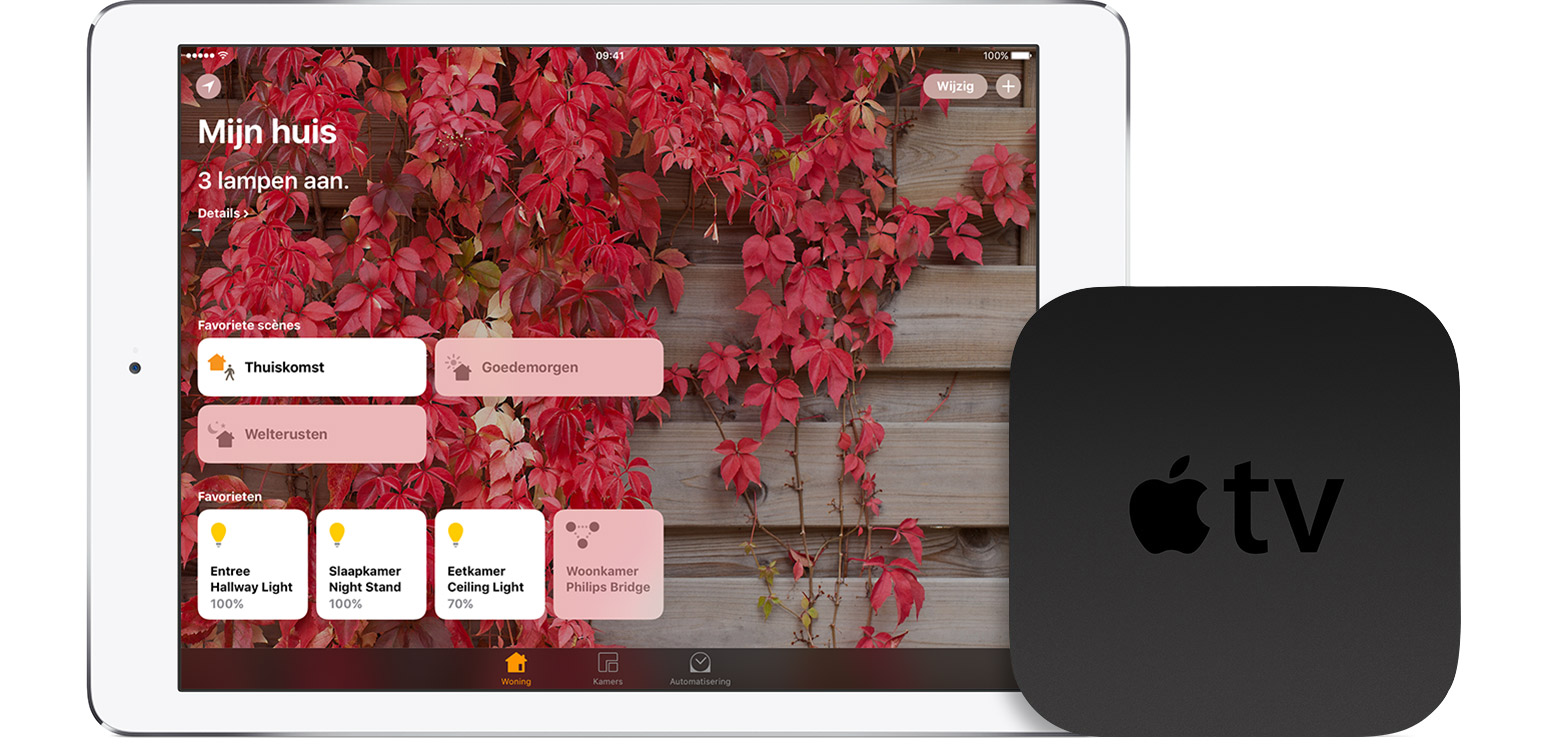 iPad en Apple TV als HomeKit hub.