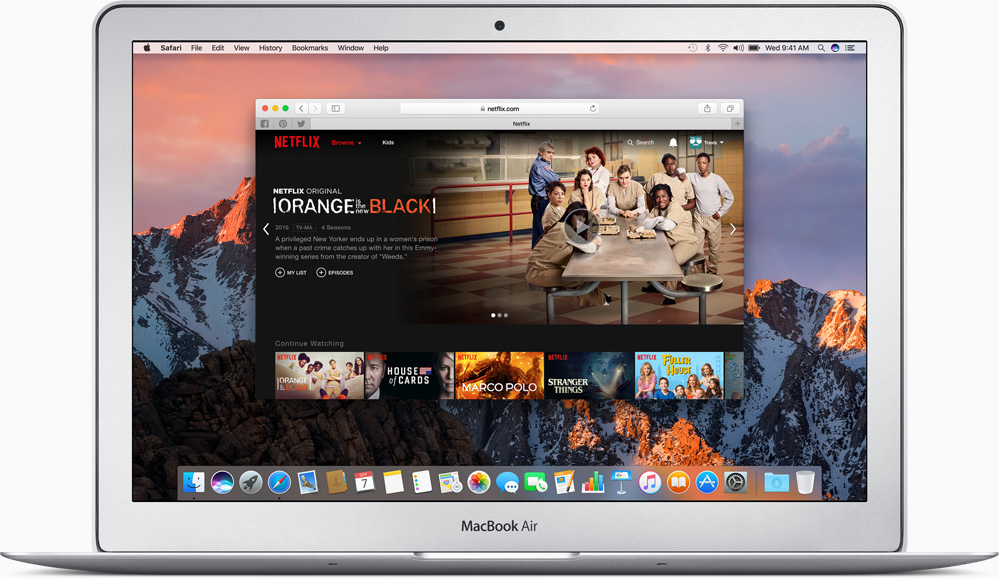 MacBook Air met Netflix