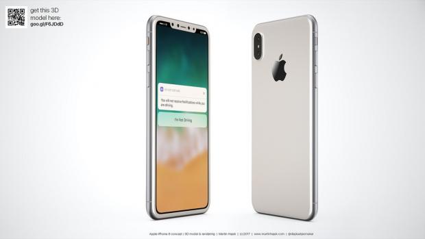 Witte iPhone 8 render