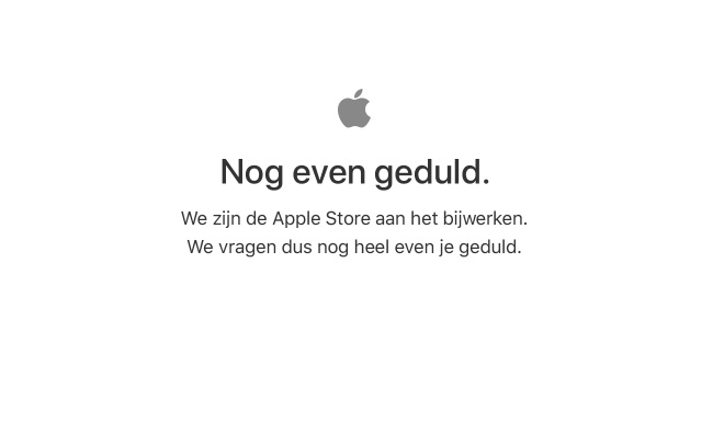 Apple Store offline in het Nederlands.