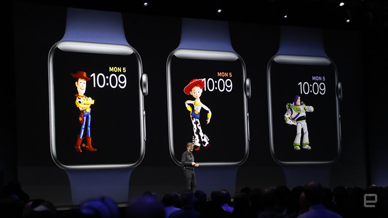 watchOS 4 Woody wijzerplaat