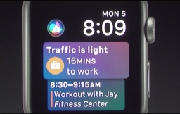 Siri wijzerplaat in watchOS 4.