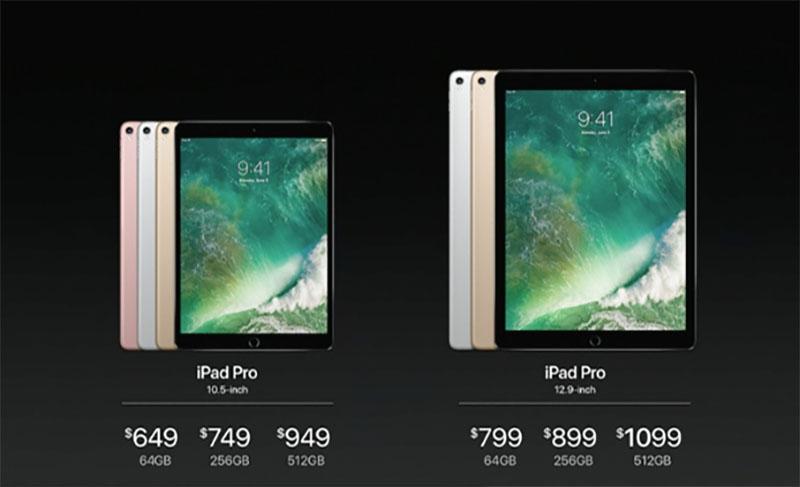 iPad pro modellen 2017