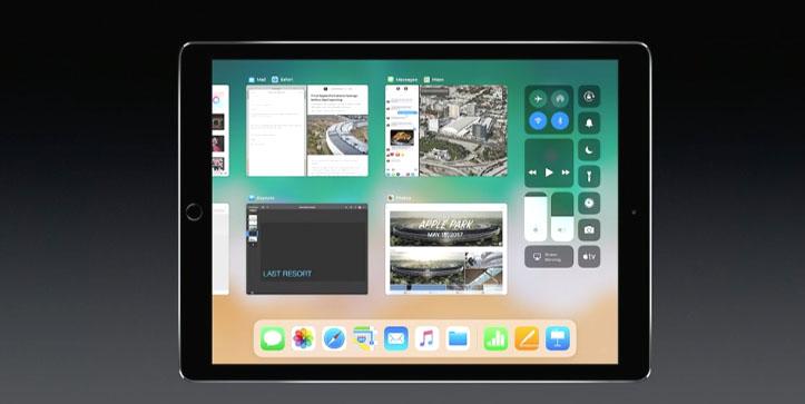 iPad dock in iOS 11