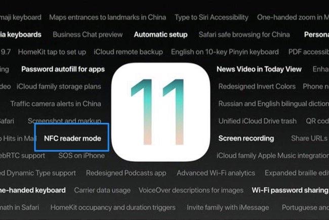 iOS 11 NFC tags lezen
