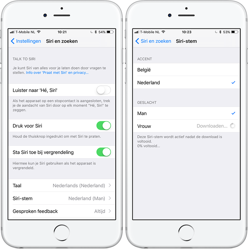 Siri iOS 11: meer stemmen, ook in het Nederlands