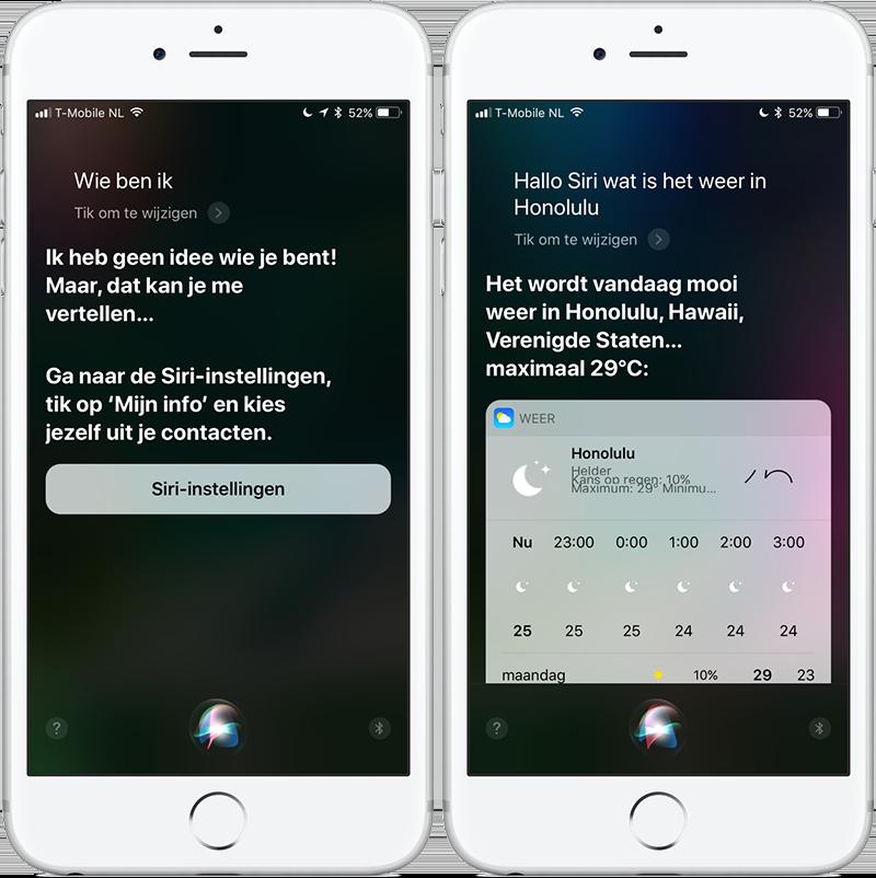 Siri iOS 11: nieuwe functies