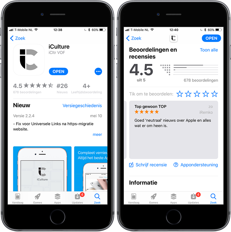 App Store in iOS 11: score van app