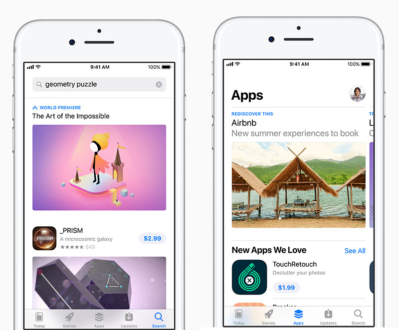 App Store in iOS 11: zoekfunctie