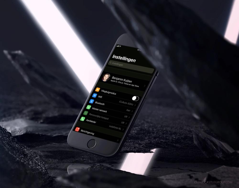 iOS 11 in donker dankzij keer kleuren slim om.