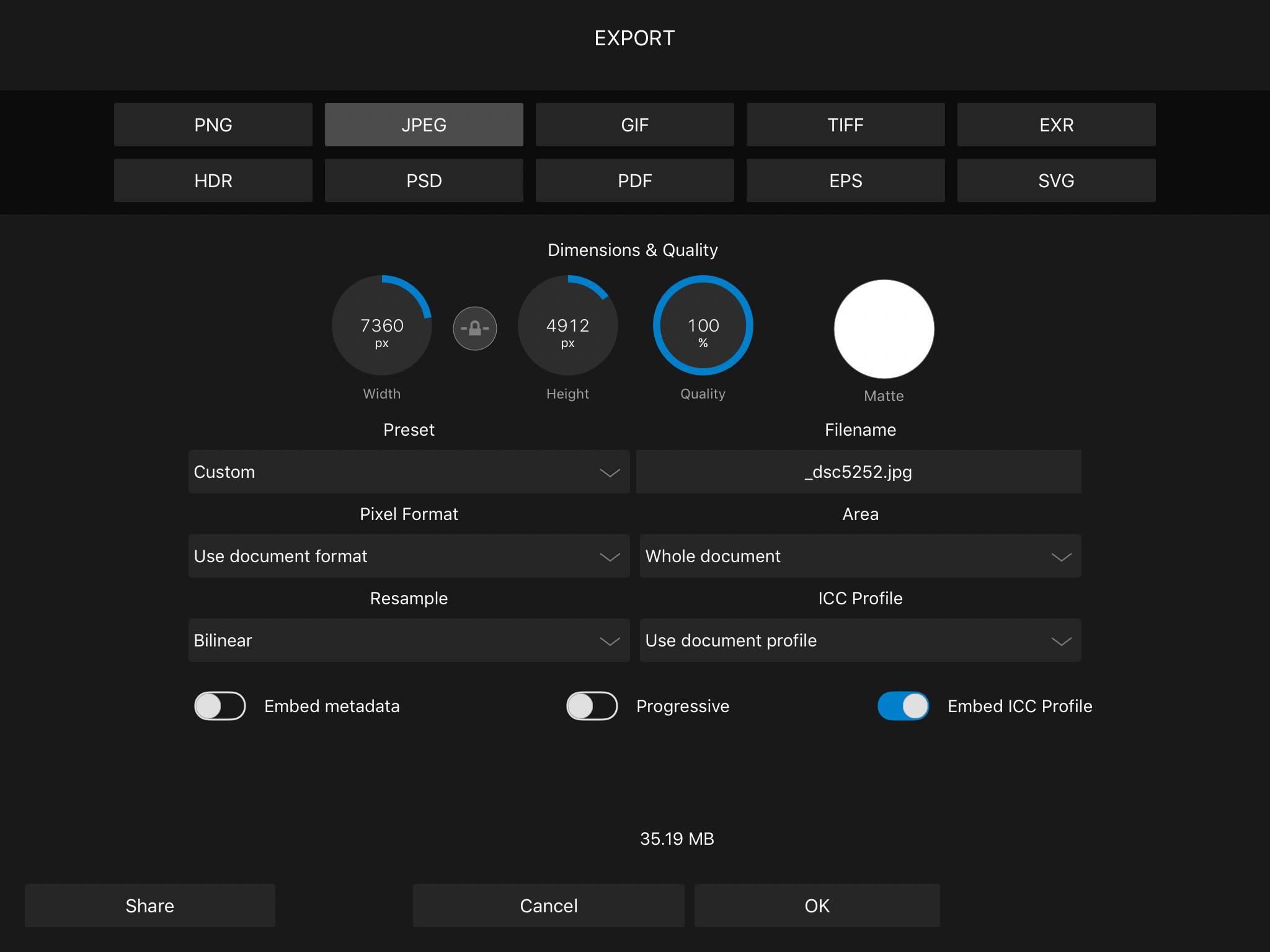 Affinity Photo bug bij RAW exporteren