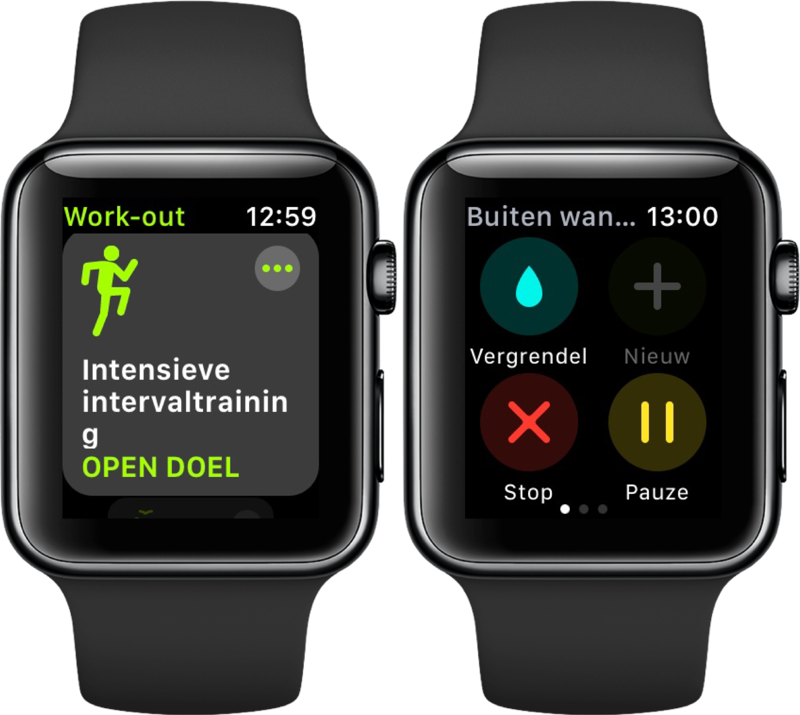 Nieuwe functies voor Workout in watchOS 4 op Apple Watch.