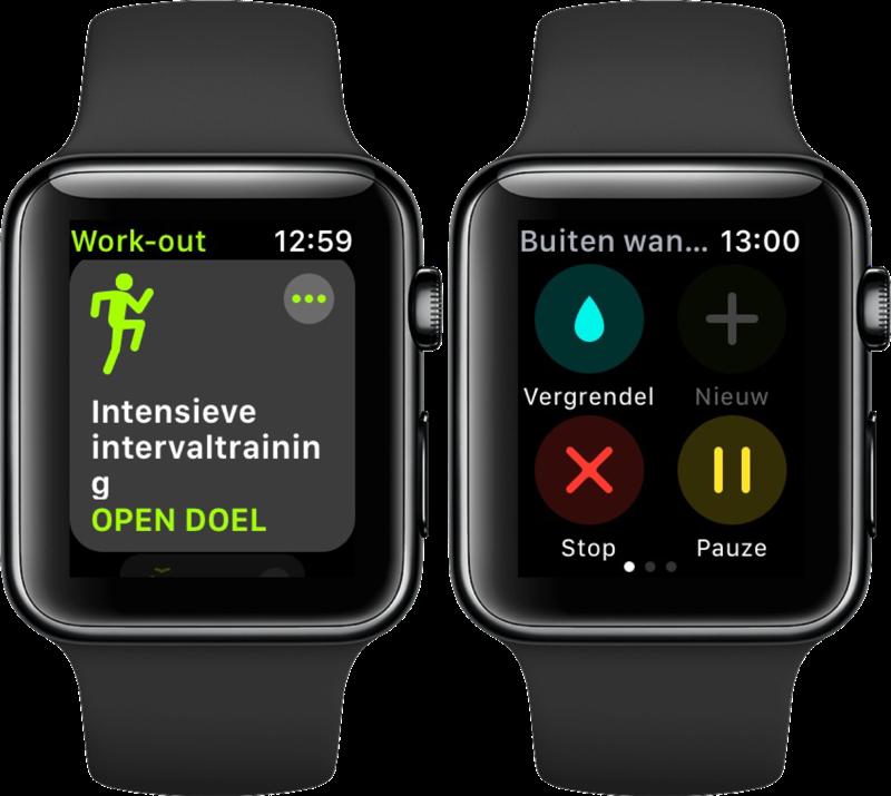 Nieuwe functies voor Workout in watchOS 4 op Apple Watch.