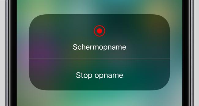 iOS 11 schermopname