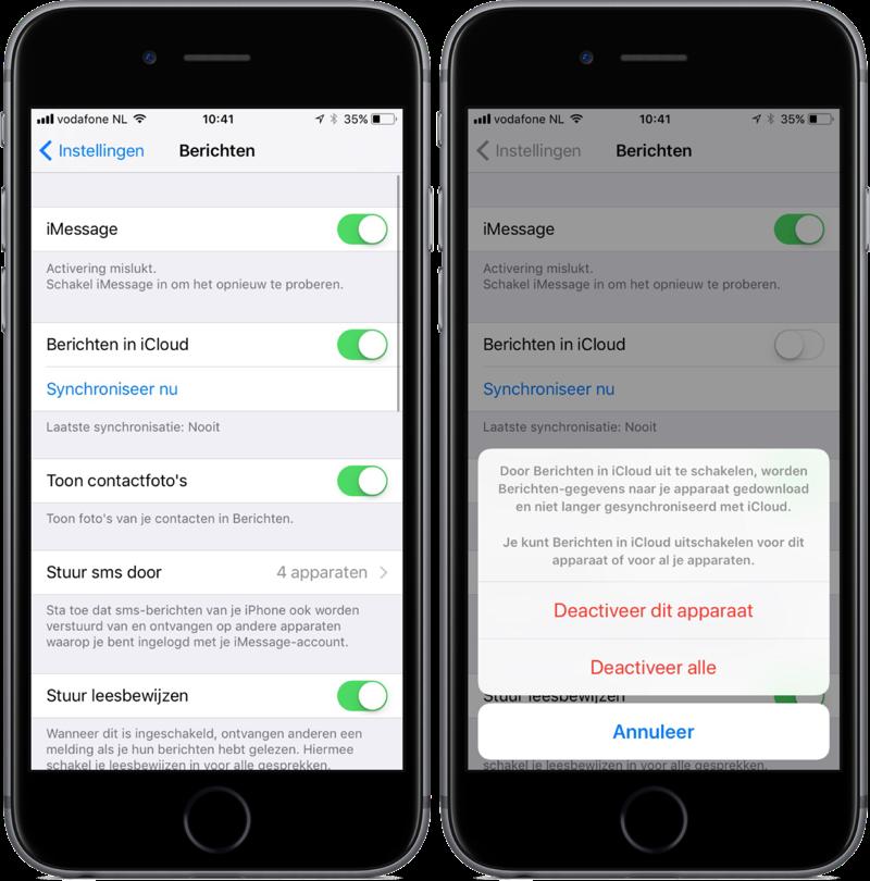 iOS 11 met iMessage in iCloud.