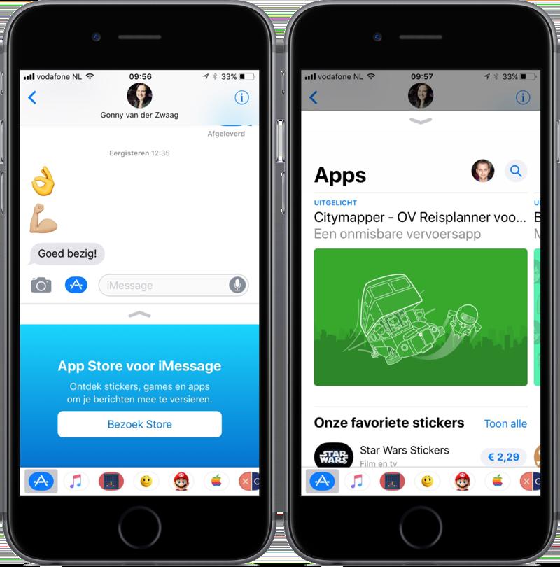 Vernieuwde iMessage App Store.