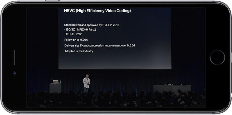 HEVC uitleg WWDC 2017