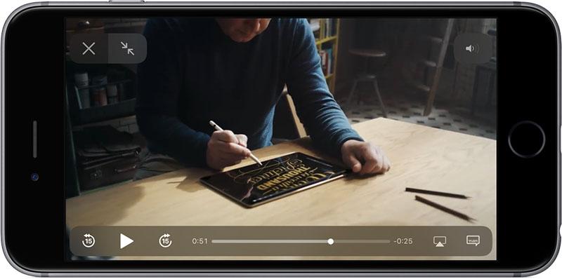 iOS 11 videospeler