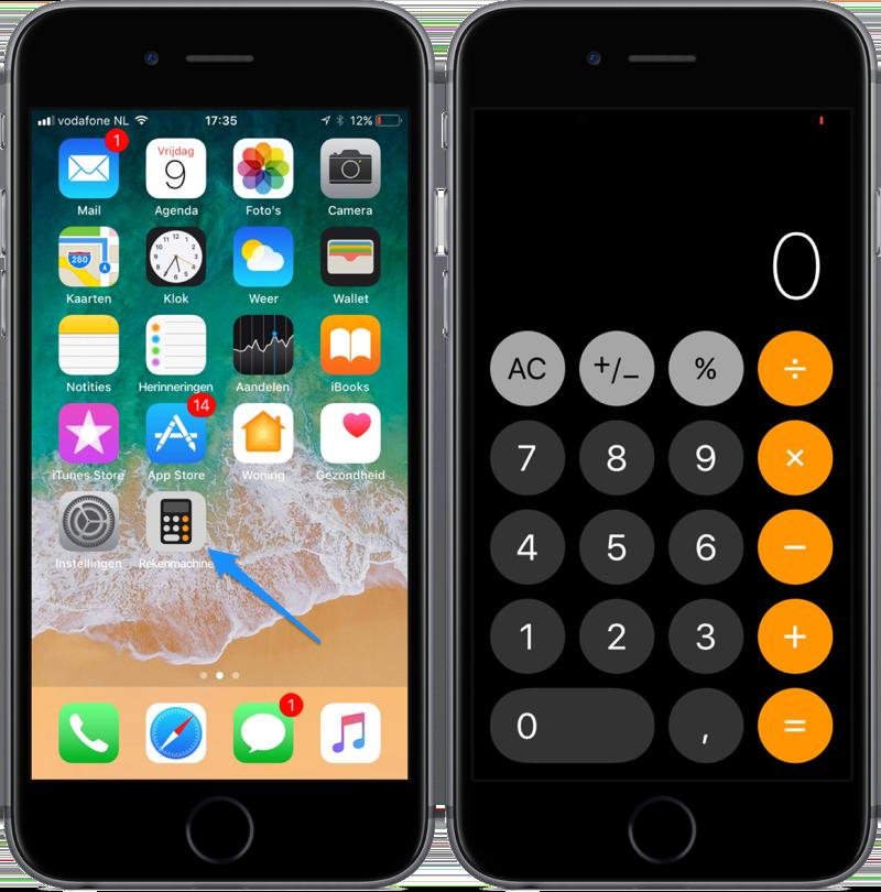 Nieuwe Rekenmachine-app in iOS 11.