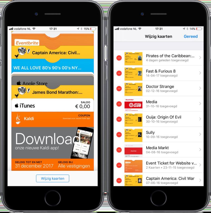 Wallet-app in iOS 11.