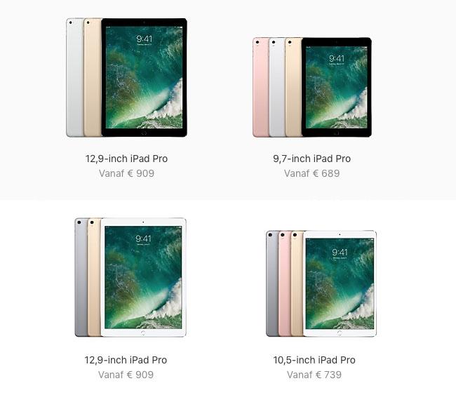 iPad Pro lineup 2017