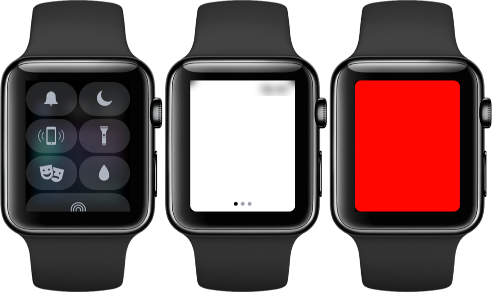 Apple Watch als zaklamp.